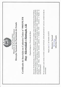 Certificado UFSA- Next,lda