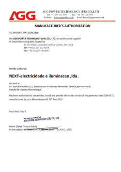 Geradores diesel mocambique