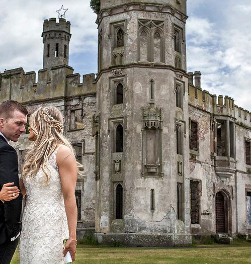 bride, groom, Ireland, castle