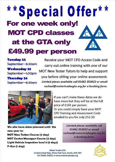 MOT CPD Special Offer