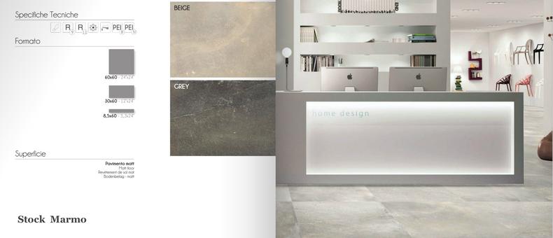 Stock di marmo e porcellanato