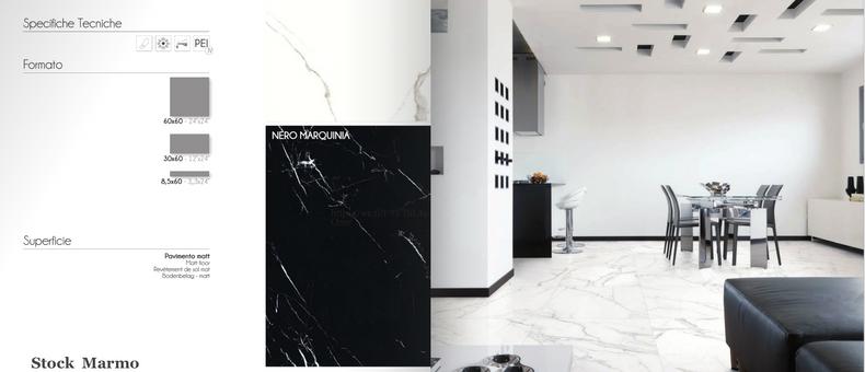Porcellanato effetto marmo e pietra naturale