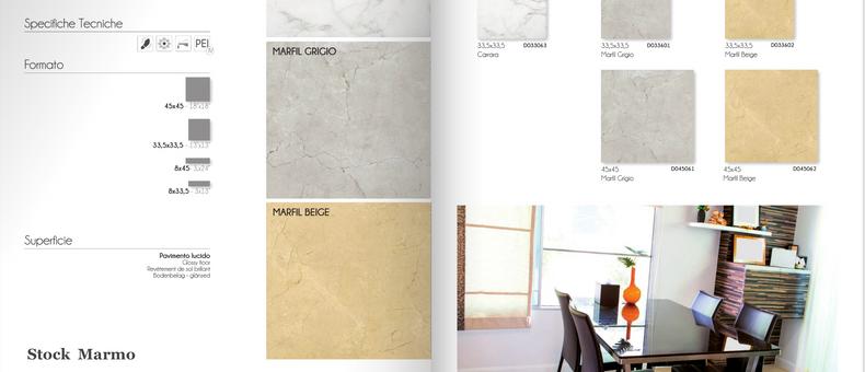 Stock porcellanato e stock marmo