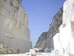 Cava di marmo bianco di carrara, blocchi, slabs, tiles, stock-marmo