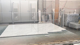 Carrara-white-marble-slabs already cut