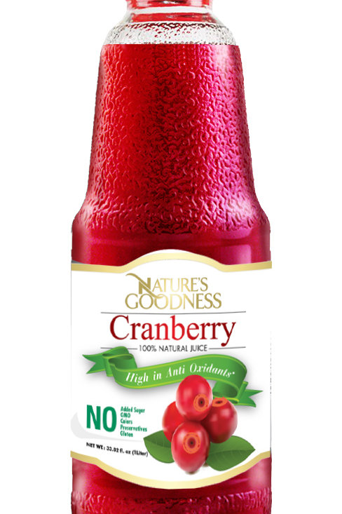 CRANBERRY JUICE   %100   NON-GMO
