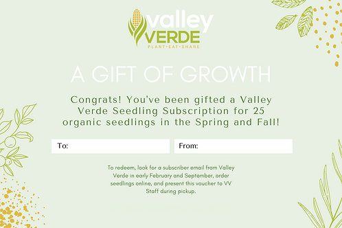 Gift a Subscription - 25 Seedlings/Season