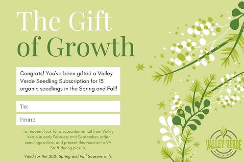 Gift a Subscription - 15 Seedlings/Season