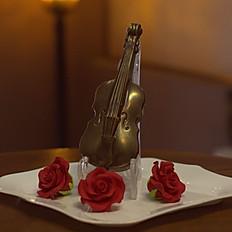 Скрипка с цветами