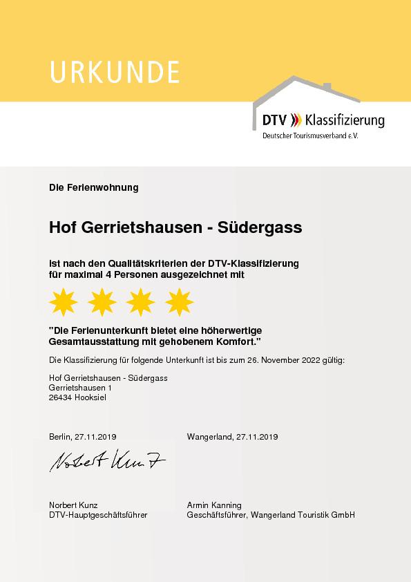 DTV Klassifiezierung