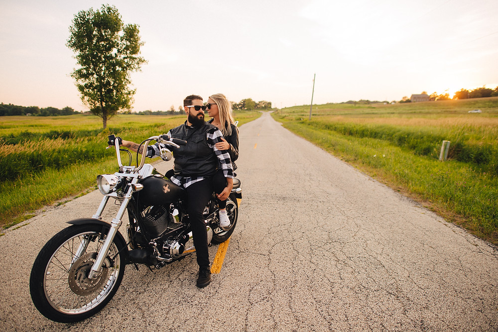 Motorcycle Engagement Photos