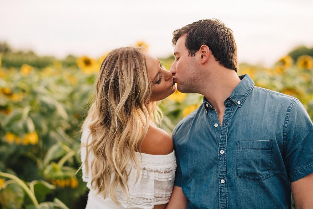Sunflower Engagement Photos