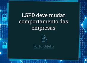 LGPD deve mudar comportamento das empresas