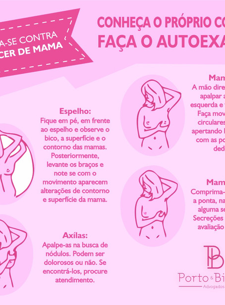 Outubro Rosa: a importante do autoexame na prevenção do câncer de mama