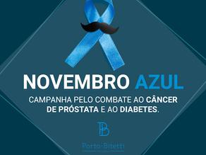 Novembro azul - mês de prevenção e combate ao câncer de próstata e diabetes