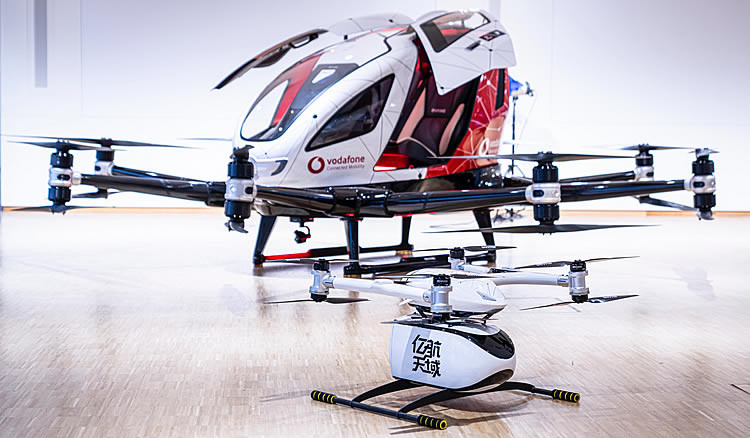 Vodafone flying Taxi