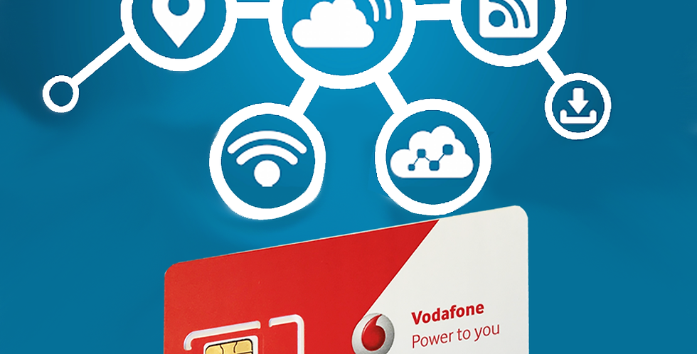 VODAFONE M2M FIXED PUBLIC SIM CARD 5GB