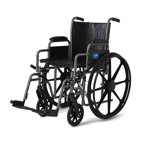 Medline Standard Vinyl Seat Wheelchair