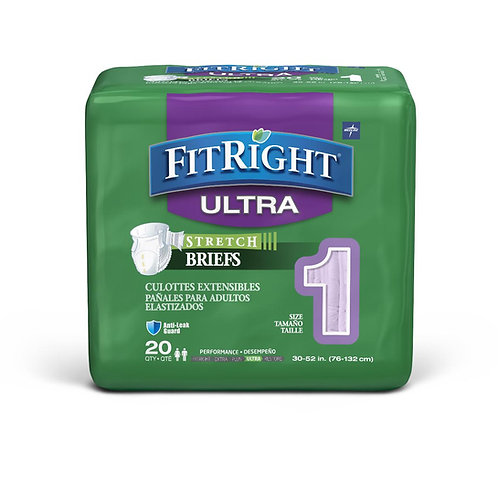 Medline FitRight Stretch Ultra Incontinence Briefs
