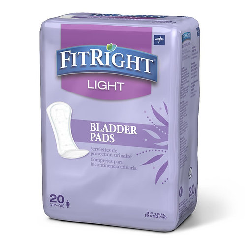 Medline FitRight Light Bladder Control Pads