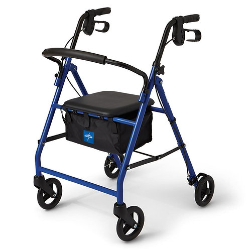 "Medline Basic Steel 6"" Wheel Rollator"