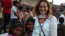 Primera experiencia  solidaria en New Delhi, India. Año  2014.