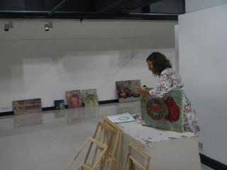Exposición en el Instituto Cervantes de New Delhi.