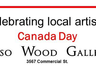 Canada Day Art Display