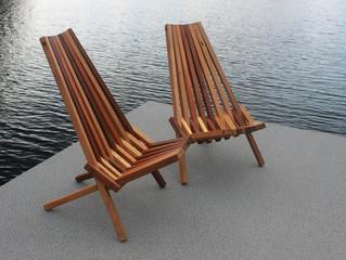 Folding Cedar Deck Chairs