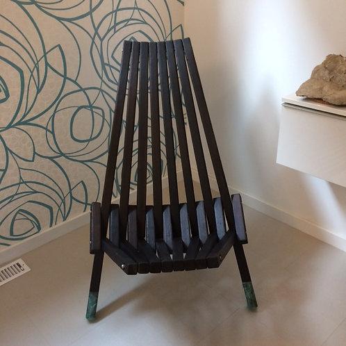 Charred Cedar Folding Chair