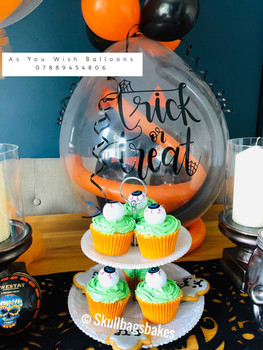 Halloween Cupcakes and Balloons