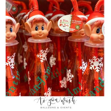 Elf on Shelf Milk Bottles