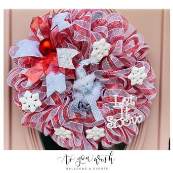 Candy Cane Door Wreath