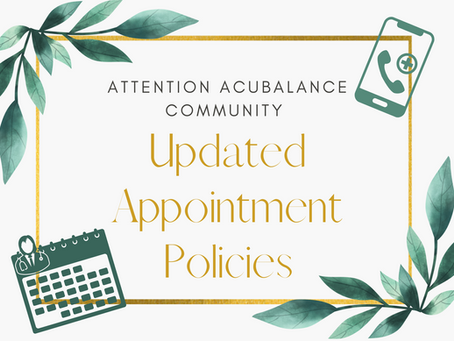 Updated Appointment Policies & Telehealth Options