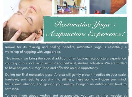 Restorative Yoga & Acupuncture!
