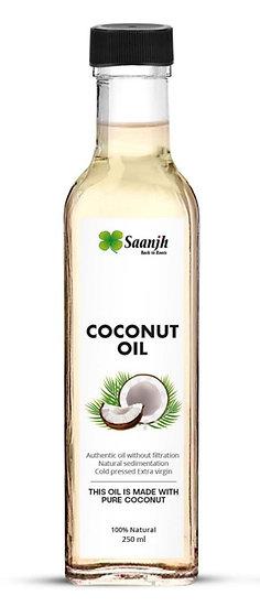 SAANJH Extra Virgin Coconut Oil (Kerala) - 1st Press 250 mL