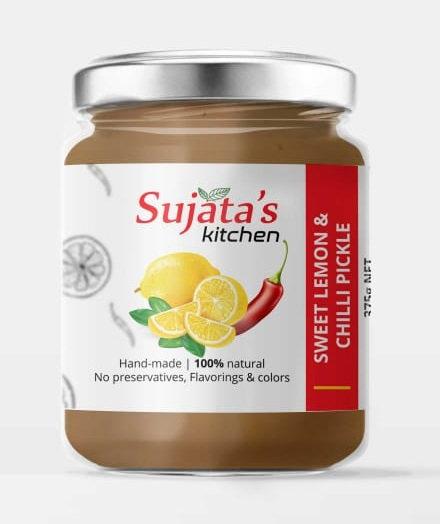 Sujata's Kitchen by All Naturals - Sweet Lemon & Chilli Pickle - 375g