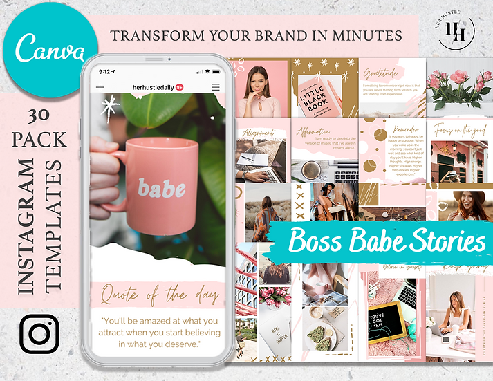 30x Canva Instagram Story Templates