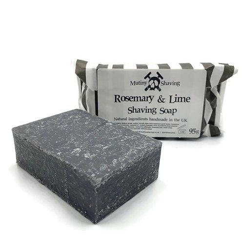 Rosemary & Lime Shaving Soap. Mutiny Shaving Co.