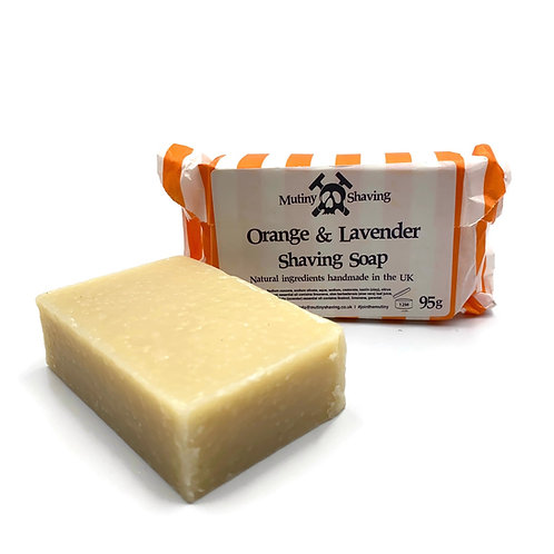 Orange & Lavender Shaving Soap. Mutiny Shaving Co.