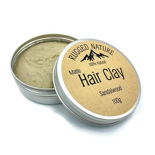 Natural Hair Clay Sandalwood - Rugged Nature