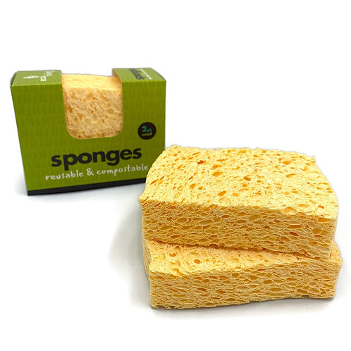 100% Plastic Free Compostable Cleaning Sponge 2pack