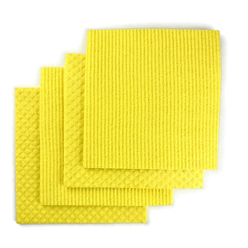 Natural Non-plastic Compostable Cleaning Cloths 4pack