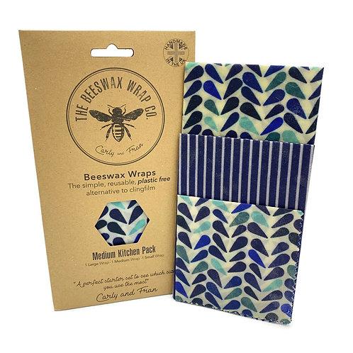 Bees Wax Wraps Medium Kitchen Pack - 3 Wraps