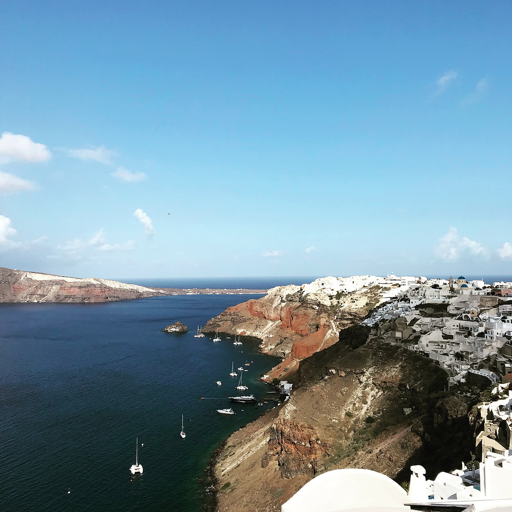 View of Oia Santorini