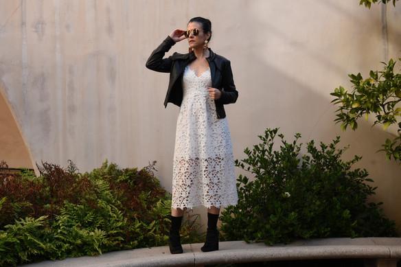 3 Ways to Wear a White Dress in Fall