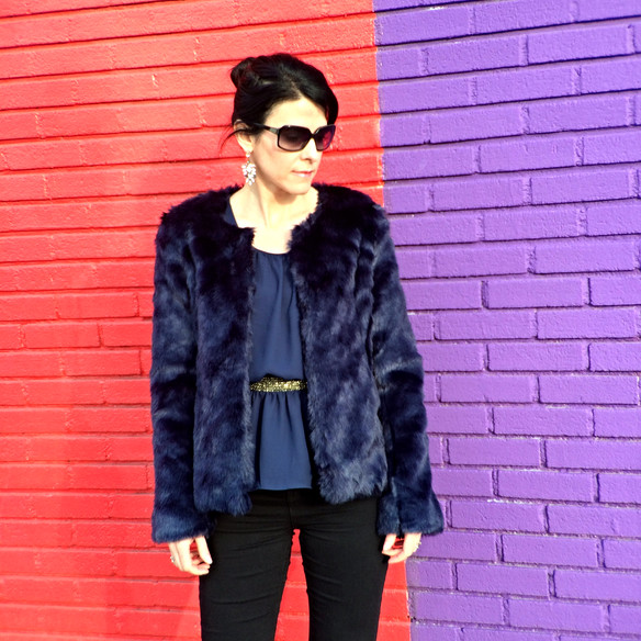 OOTD ... How to Style Your Faux Fur Jacket for the Holidays
