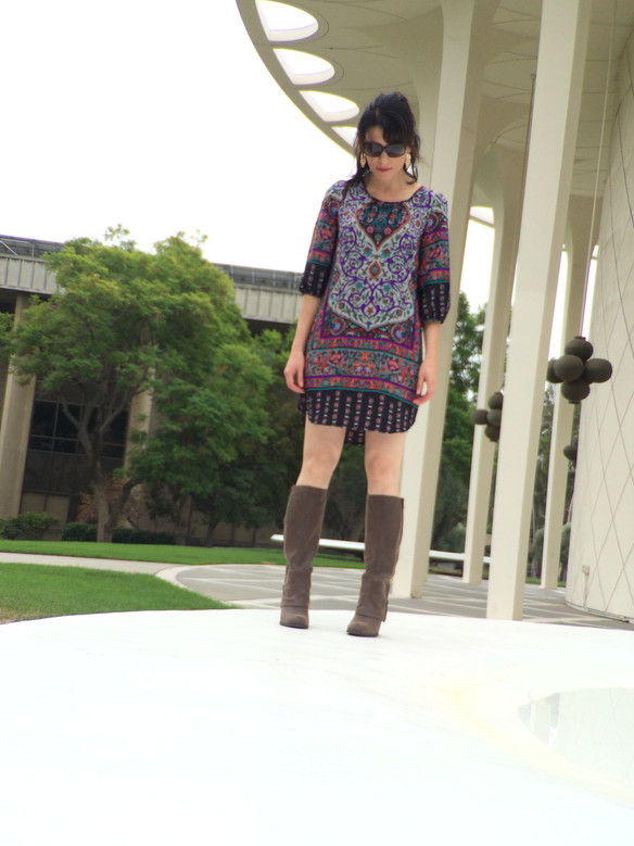 Fall Florals, Fringe and a Fantastic Boot