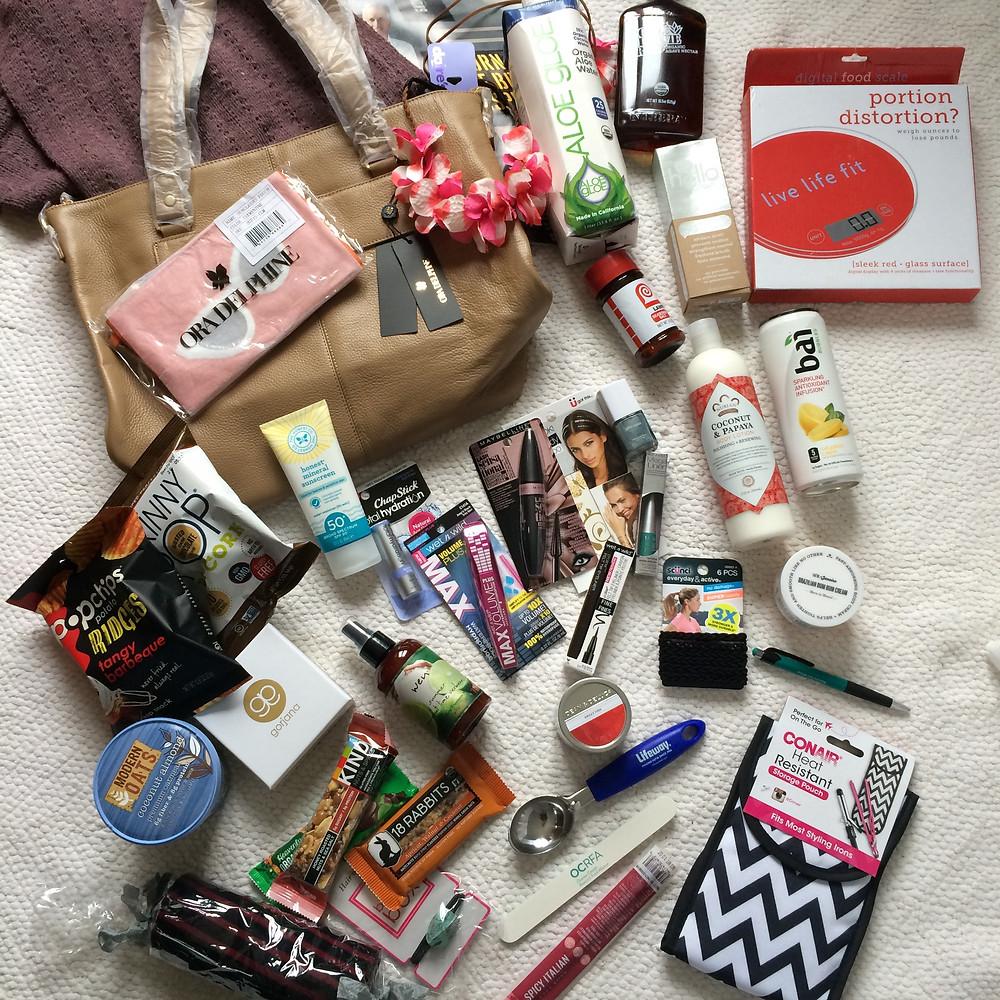 Swag bag contents