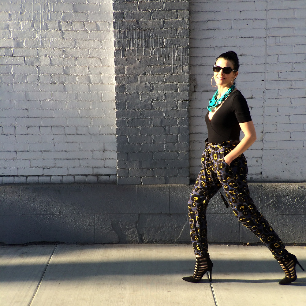 How to Style Bold Print Pants